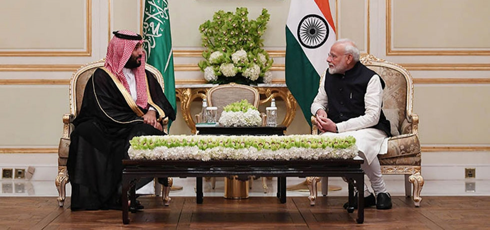 Hon'ble Prime Minister Shri Narendra Modi and His Royal Highness Crown Prince Mohammed bin Salman held bilateral talks in Riyadh on October 29, 2019