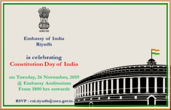 Celebration of the Constitution Day of India on 26 November 2019