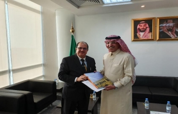 Ambassador H.E. Dr. Ausaf Sayeed called on Saudi Finance Minister Mr. Mohammad Al Jadaan  on February 3, 2020