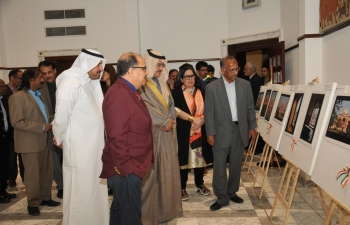 Painting and photography exhibition on Indian architecture and heritage hosted by the  Embassy of India on February 8, 2020